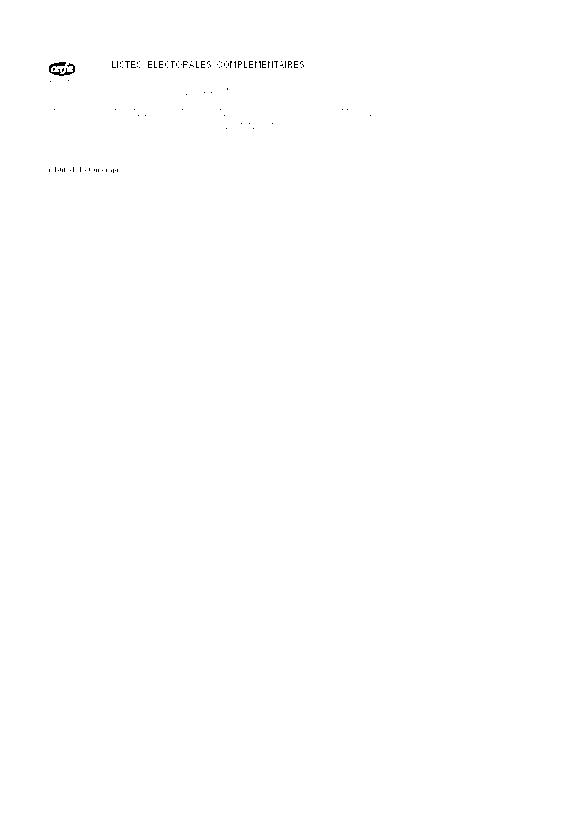 Aperçu Formulaire Cerfa No 11557-01 : Avis de radiation volontaire d'une liste electorale complementaire (élections municipales)