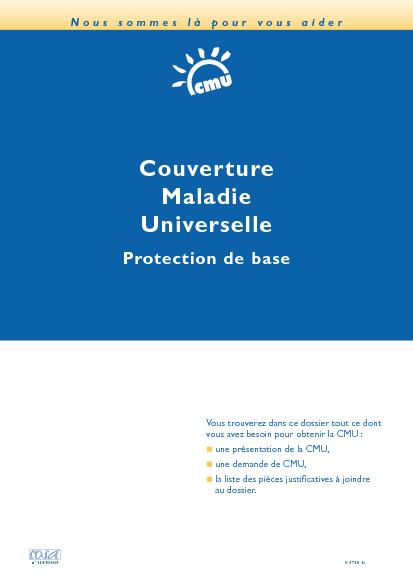 ... -04 : Couverture Maladie Universelle : Demande de protection de base