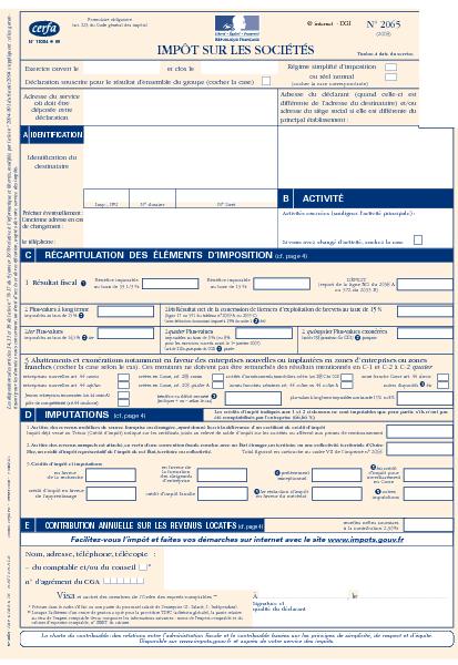 259de16d716 Aperçu Formulaire Cerfa No 11084-14   Déclaration d impôt sur les sociétés