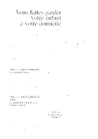 Aperçu Formulaire Cerfa No 10926-02 : Demande d'allocation de garde d ...