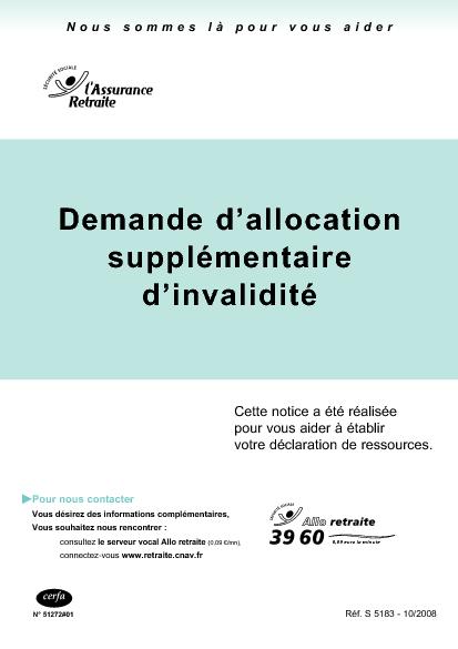 Aperçu Formulaire Cerfa No 13679-01 : Demande d'allocation ...