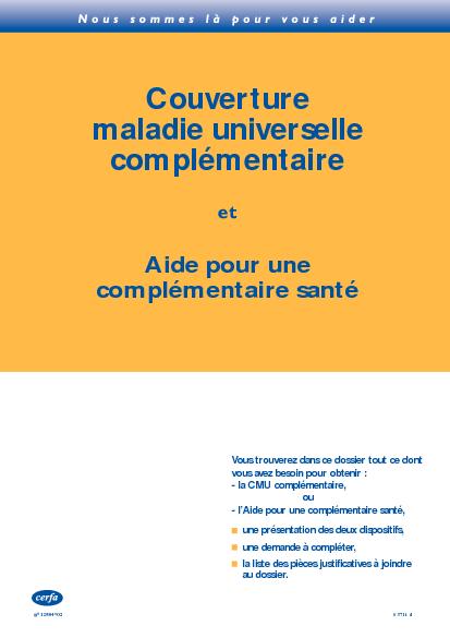 Demande de couverture maladie universelle compl mentaire - Aide a la complementaire sante plafond ...