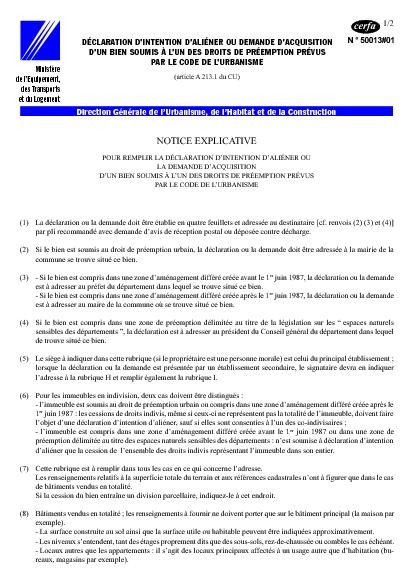 Letter of application lettre explicative situation - Le droit de preemption ...