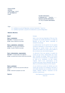 Chasseur De Tete Exemple Cv Lettre Motivation Type Conseils