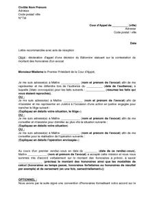 Déclaration D Appel D Une Décision Rendue Par Le Bâtonnier