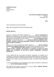 lettre de demission de delegue du personnel