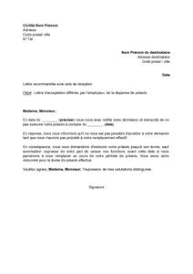 Modele De Lettre D Acceptation Differee Par L Employeur De La