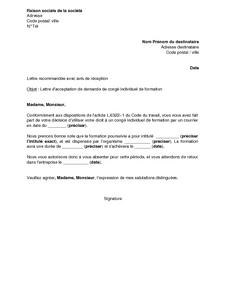 Exemple Gratuit De Lettre Acceptation Par Employeur