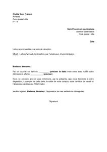 Exemple lettre de démission légitime exemple lettre de démission