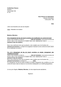 attestation de mutation