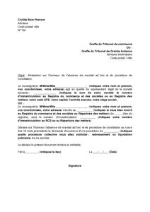 Lettre D Attestation Sur L Honneur De L Absence De Mandat Et De