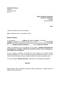 Lettre D Information De L Employeur Par Le Salarié Victime D