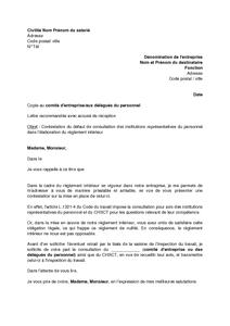 lettre de contestation aupr s de l 39 employeur de l 39 absence de consultation dans l 39 laboration du. Black Bedroom Furniture Sets. Home Design Ideas