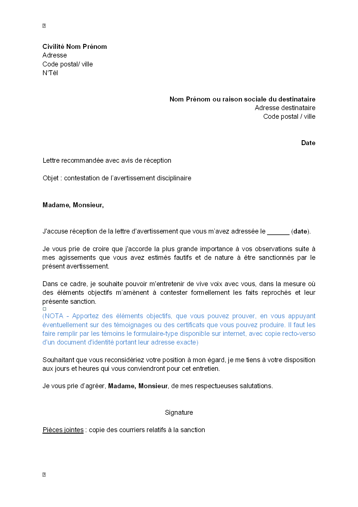 modele lettre de motivation suisse