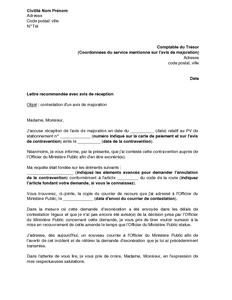 Exemple Lettre Contestation Amende Lahauteroute