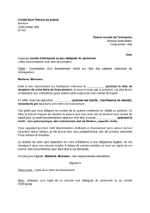 Exemple Gratuit De Lettre Contestation Un Licenciement Fondé