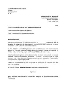 lettre licenciement al amiable