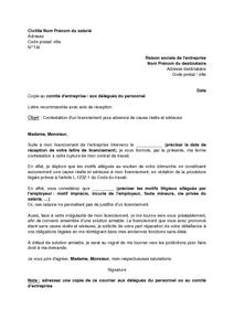 Modele Lettre Licenciement Pour Cause Reelle Et Serieuse