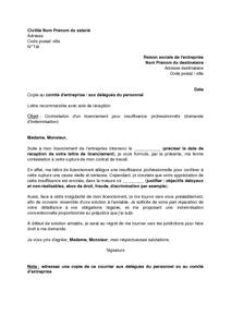 Lettre De Contestation D Un Licenciement Pour Insuffisance