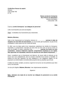 Lettre De Contestation D Un Licenciement Pour Mesentente Et Demande