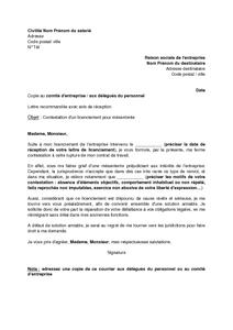 Exemple Gratuit De Lettre Contestation Un Licenciement