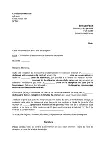 Modele De Courrier De Resiliation Sfr Neufbox Lahauteroute