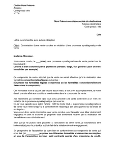 lettre de contestation d 39 une vente immobili re conclue en violation d 39 un compromis de vente. Black Bedroom Furniture Sets. Home Design Ideas