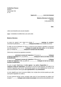 Lettre De Contestation De Debits Lies A L Utilisation D Une Carte Bancaire Volee Modele De Lettre Gratuit Exemple De Lettre Type Documentissime