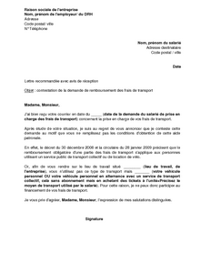 lettre de demission cdi transport routier