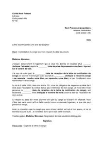 Lettre De Contestation De La Résiliation Du Bail D