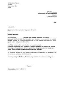 lettre type pension alimentaire amiable
