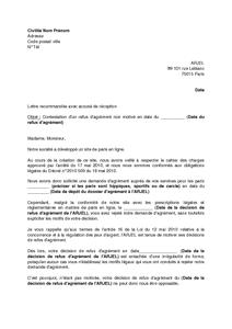 Lettre De Contestation Du Refus D Agrement D Un Site De Paris En
