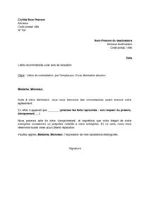 lettre de contestation par l 39 employeur d 39 une d mission abusive mod le de lettre gratuit. Black Bedroom Furniture Sets. Home Design Ideas