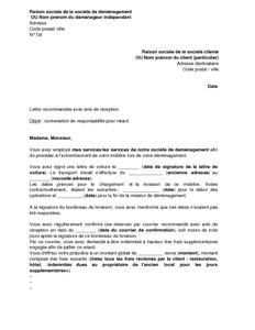 Exemple Gratuit De Lettre Contestation Par Demenageur