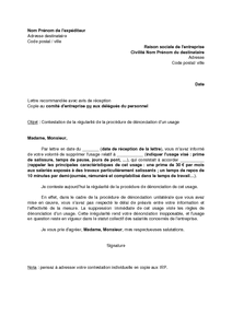lettre de contestation par le salari de l 39 irr gularit du d lai de pr avis de d nonciation d. Black Bedroom Furniture Sets. Home Design Ideas