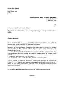 modele lettre de rappel à l ordre d un salarié Exemple gratuit de Lettre contestation, par salarié, ordre départs  modele lettre de rappel à l ordre d un salarié