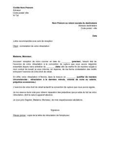 Lettre type convocation rupture conventionnelle for Exemple contrat entretien espaces verts