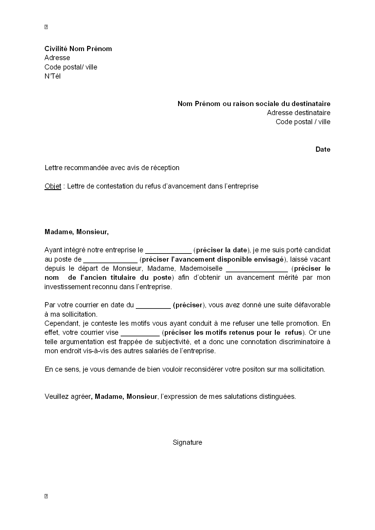 lettre de motivation changement de poste en interne