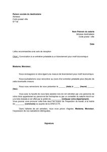 23b623c57aa Lettre de convocation à un entretien préalable a un licenciement ...