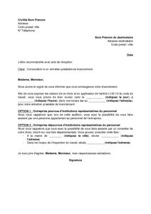 cff86ca5431 Exemple gratuit de Lettre convocation à entretien préalable un ...