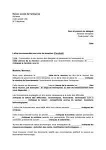 71158e93a8a Lettre de convocation à une réunion des délégués du personnel pour ...