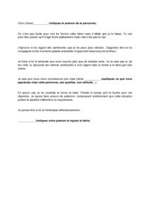 Exemple de lettre d amour