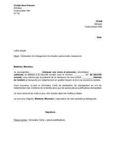 GRATUIT DE CPAM DEMANDE TÉLÉCHARGER RATTACHEMENT