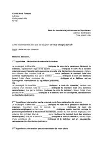 Exemple de CV mandataire judiciaire