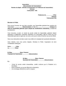 Exemple Gratuit De Lettre Déclaration Dissolution Une