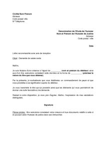 lettre huissier de justice Modele lettre huissier commandement de payer | Christophebelair lettre huissier de justice