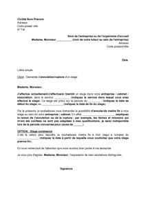c9be7b77fcd Exemple gratuit de Lettre demande annulation un stage