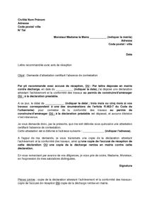 modele attestation de fin de travaux