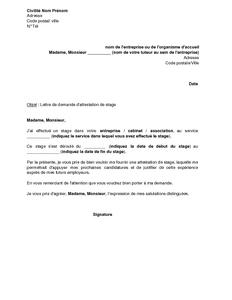 EXAMPLES DE DEMANDE DE STAGE PDF DOWNLOAD