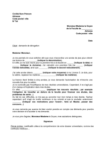 exemple lettre de motivation universite licence
